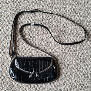 Brighton Black Alligator Embossed Purse